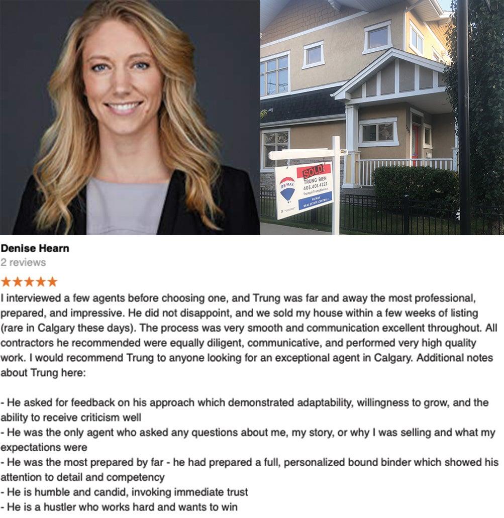 Trung Bien - Realtor Calgary - ReMax Real Estate Central -  Luxury - Inner City testimonial