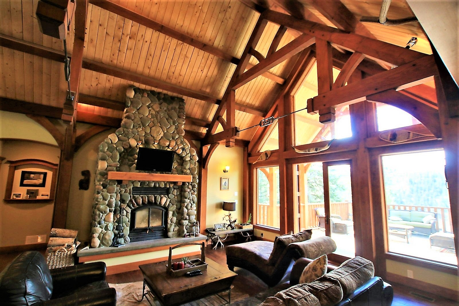 Timber-frame home located just outside Princeton, BC. Links to All Listings page