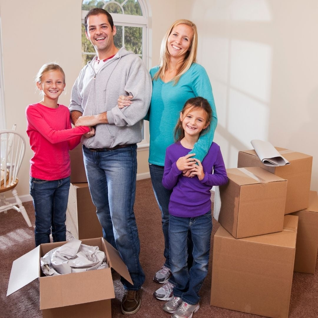 Selling Home and Packing for Moving Image