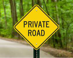 image of private road sign in Muskoka