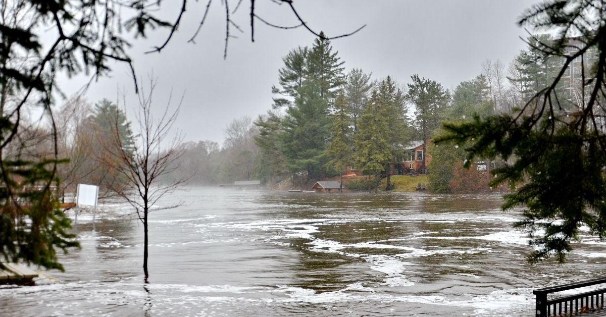 Lake Muskoka Flooding in the Spring Image