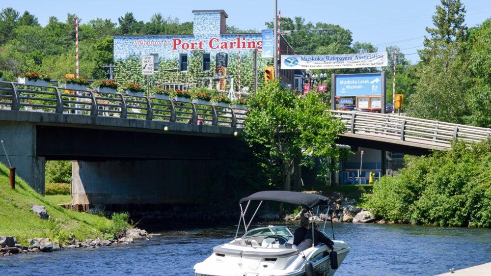 Port Carling Muskoka Swing Bridge, Locks and Muskoka Emporium Building 99 Maple St Port Carling Ontario