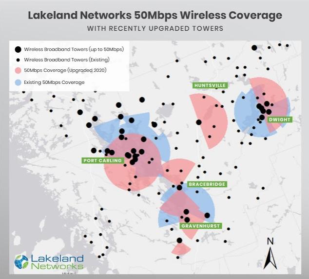 Internet towers in Muskoka Lakeland Networks Internet provider in Bracebrdige