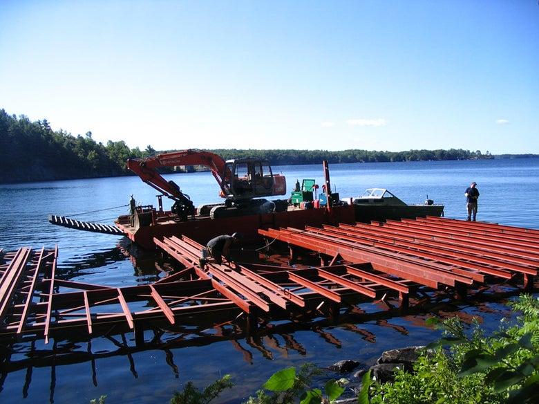 Muskoka steel dock and boathouses construction