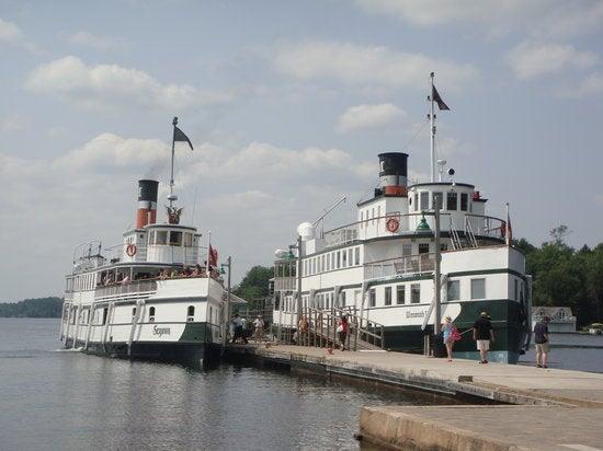 Segwun Steam Ship at Gravenhurst Wharf Gravenhurst Ontario