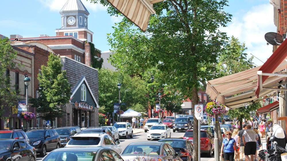 Downtown Huntsville in the summer