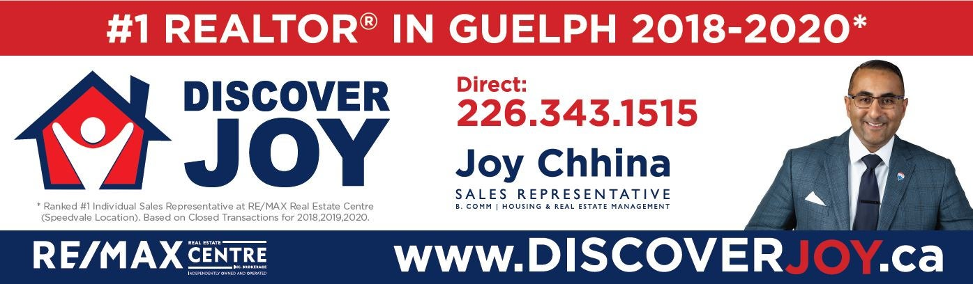 Joy Chhina #1 Guelph Realtor