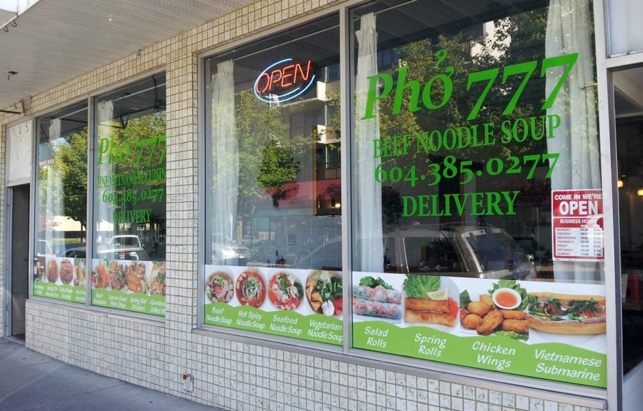 Pho 777 on Russell Avenue in White Rock BC