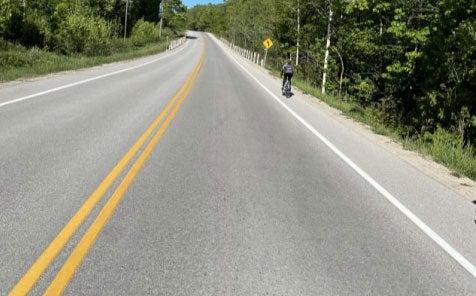 Great Bike Lanes in Collingwood, Headed up Grey Rd. 19