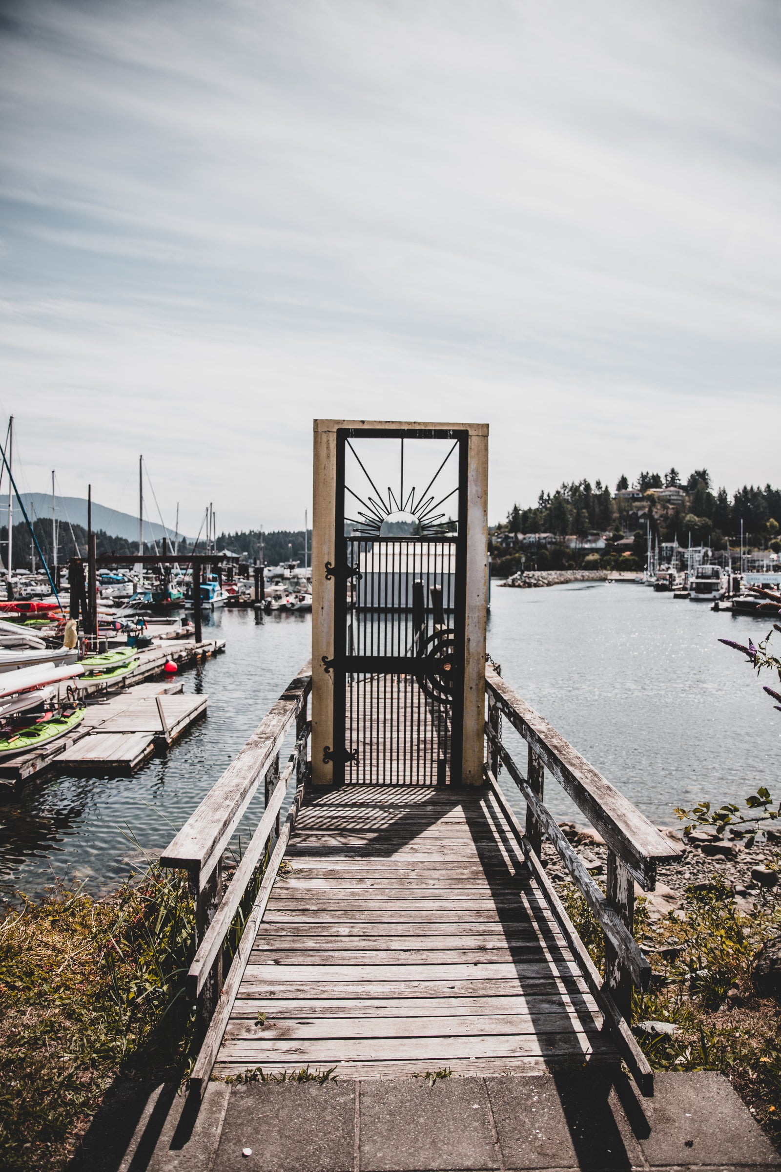 harbour in the sunshine coast bc